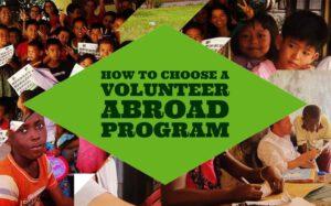 Choosing a Volunteer Program