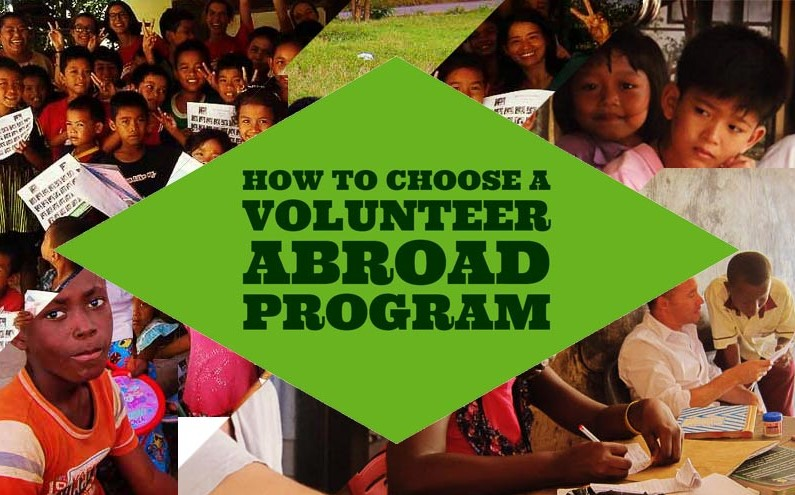 Choosing a Volunteer Program
